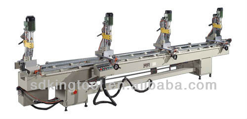 KT-368B Aluminum Curtain Wall Multi-Head Drilling Machine with 3 spindle drilling unit