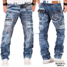 2017 KOSMOLUPO fashion biker clothes retail wholesale jeans for men