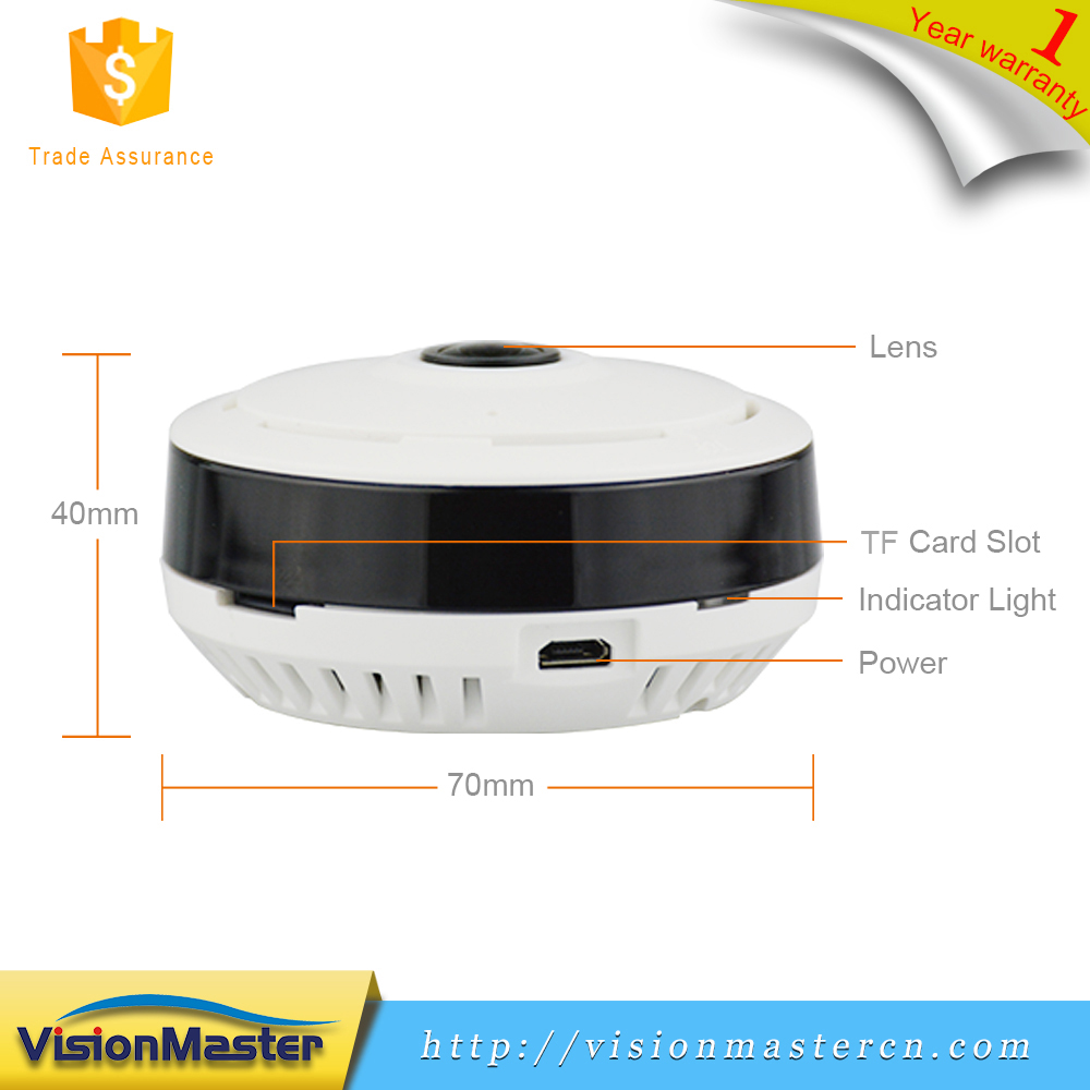 Low Price 1.3MP HD 360 Degree Full View Panoramic Indoor Wifi Internet <strong>Camera</strong> With Two-way Voice Intercom