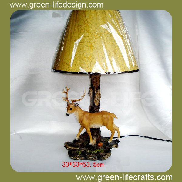 New product resin animal decor table lamp