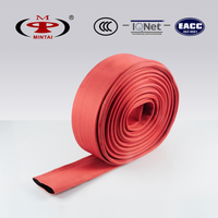 Rubber fire hose with red jacket (13-65)