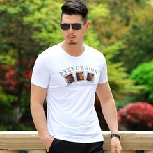 <strong>Men's</strong> Summer Cotton Tees Round Neck Slim-Fit Short sleeve Printed T-<strong>shirt</strong>