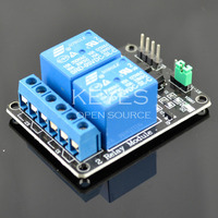 New 5V 2 Channel Relay Module Shield for Arduino (black)