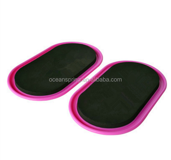 OCEANSPRING ABS Plastic Sliding Discs Set of 2 Exercise Gravity Fitness Core Slider Triangle Core Sliders