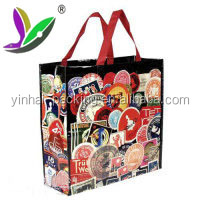 Promotional pink non woven tote bag recyclable non woven bag