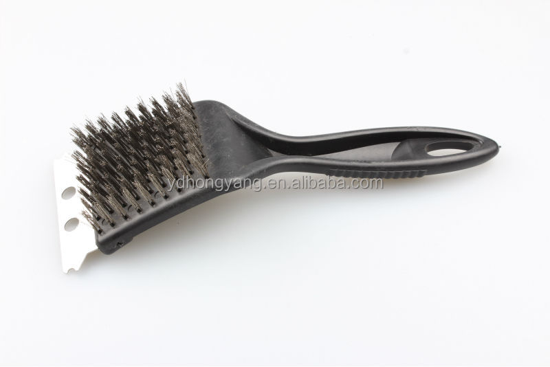 Yangjiang two-in-one barbecue pp handle wire grill brush