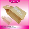 Accept logo printing kraft paper zip lock bag with high quality