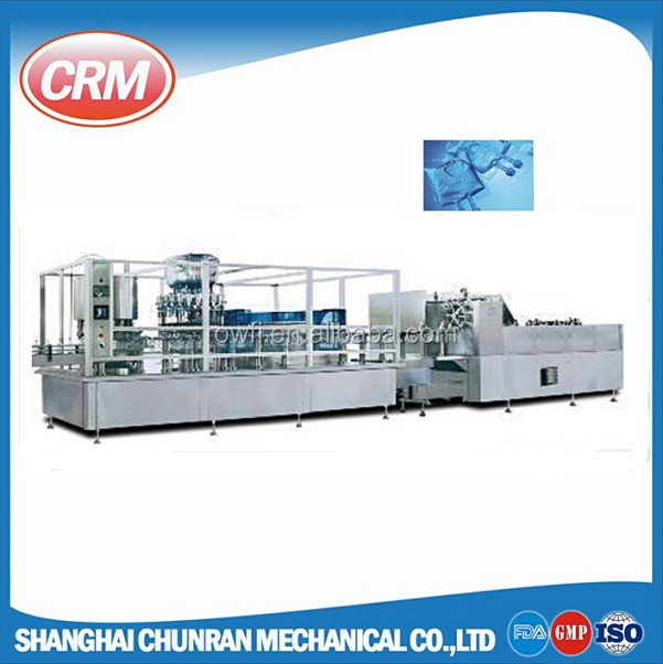 Automatic non pvc soft bag iv solution / saline solution filling sealing machine production line