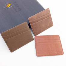 Man Brown Multi Slots Real Leather Card Holder 3 Colors