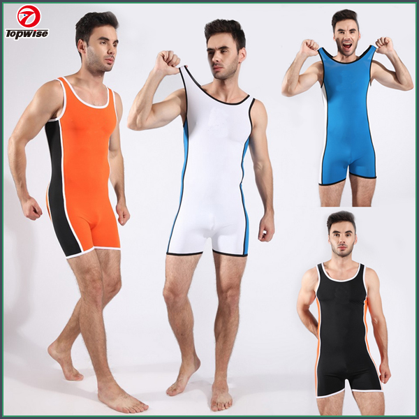 Mens Swimsuit Full-body Swimwear Sexy Wrestling singlet Gym wear