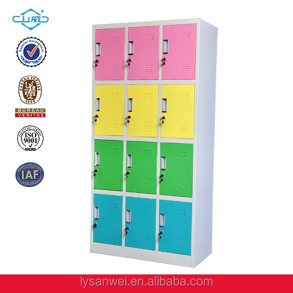 Certified Custom Any Size Beautiful <strong>12</strong> door steel locker for hanging clothes