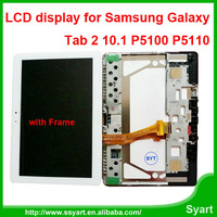 10.1inch Tab 2 LCD P5100 lcd P7500 lcd Panle Display touch screen assembly with frame For samsung Galaxy P5100 P7500 P5113