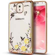 Rhinestone Crysyal Luxury electroplate frame case For Samsung Galaxy S5