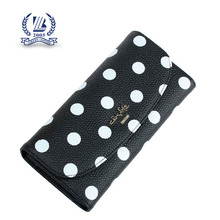 New black white dots leather purse ladies