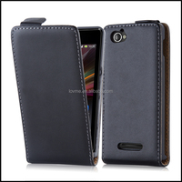 Durable Genuine Real Flip Leather Case Wallet Cover for Sony Xperia M