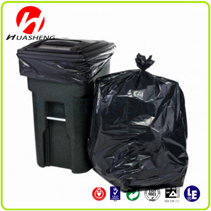 Wholesale biodegradable cheap HDPE/LDPE plastic Heat Sealing & Handle garbage trash bags with custom printed bags on roll