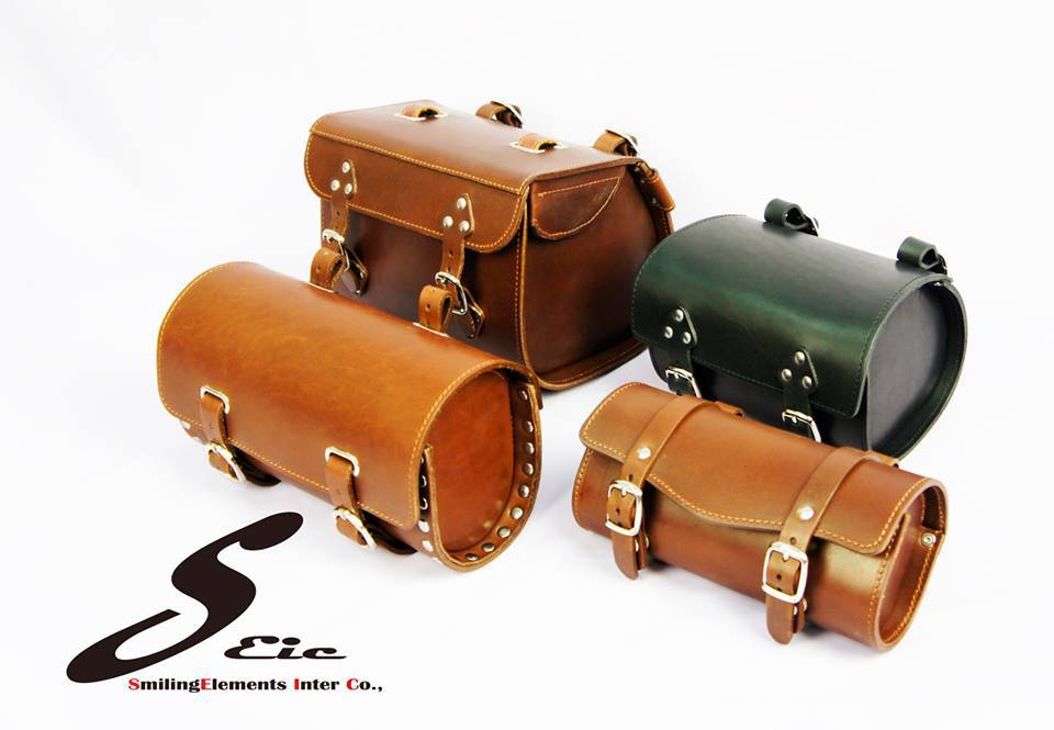 Cow leather bike accessory bicycle bags