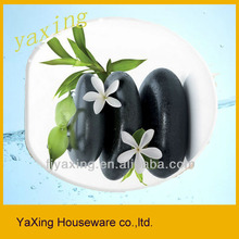 Yaxing F8007 MDF soft close hinges flower printed toilet seat cover