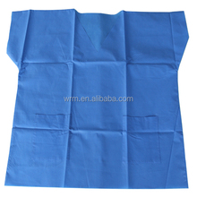 100% non woven fabric garment and blue disposable hospital surgical usage gowns