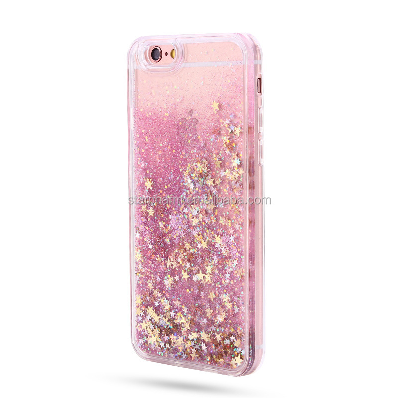 Hot sale Sparkle Glitter Flowing Liquid Star tpu Mobile Phone Case For samsung galaxy a5