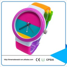 new design geneva quartz watch for girls vintage italy silicone watch with colorful silicone strap