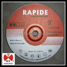 Lower oscilation 9 inch 230*3.0*22mm aluminum cutting wheel