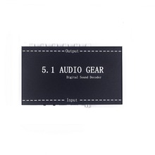 Factory New 5.1 Audio Gear Digital Sound Decoder Optical to Analog