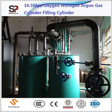 Nitrogen Compressor Transfer Gas for Filling Manifold