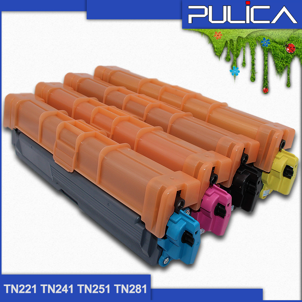 Hot sell compatible for Brother TN221 TN241 TN251 TN281 color toner cartridge