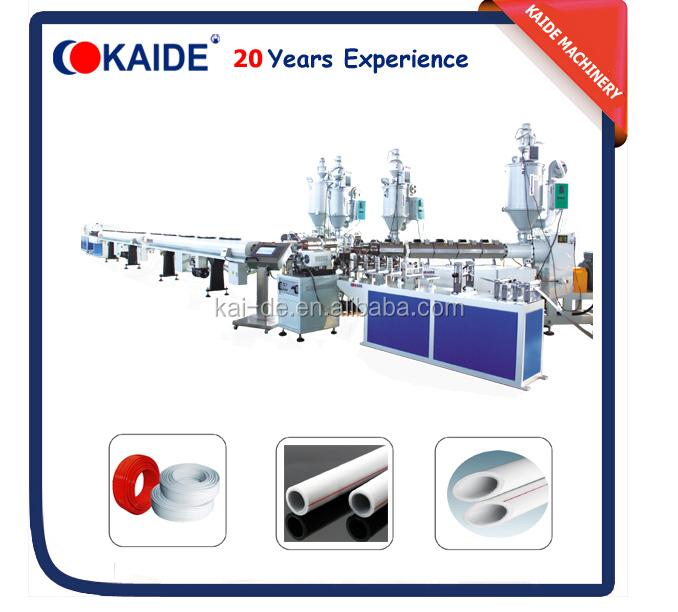 PPR AL PPR/PE AL PE/PEX AL PEX Ultrasonic Overlap Welding Multilayer Polyethylene Aluminum Composite Pipe Making Machine