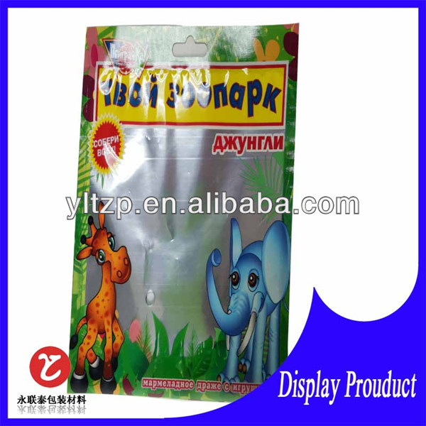stand up poly bagsprinted with clear window/heat seal laminated dry food packaging