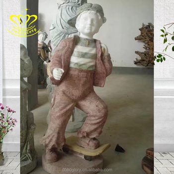 garden decorate Life Size white marble vivid Boy statues