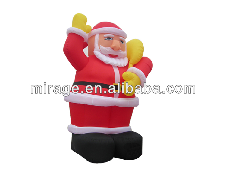 outdoor christmas decoration inflatable santa claus