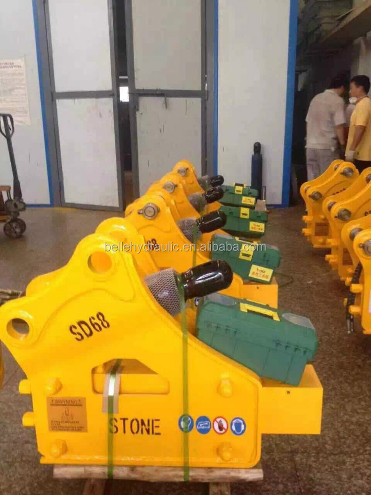 75mm square chisel type hydraulic stone breacker for 6~9 tons excavator