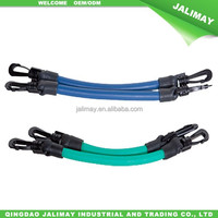 Colored Latex Rubber Resistance Band With Plastic Hook