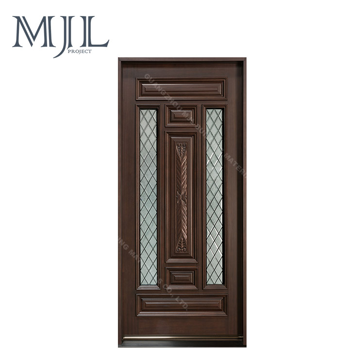 Best Price Luxury German / Chinese Hardware Solid Kerala Wooden Front Door Designs