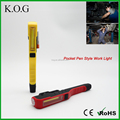 Plastic Pocket COB Pen Style Inspection Light with Clip Tool