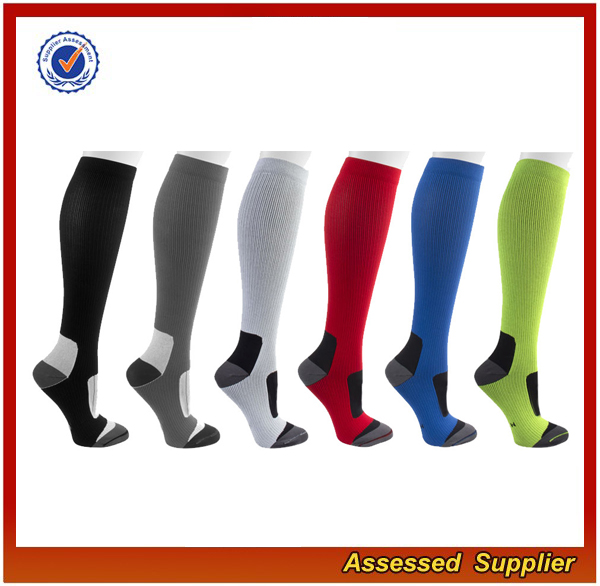 High Quality Graduated Sports Running Compression Stocking Socks 20-30 mmhg for Men Women knee high Compression Socks JH50