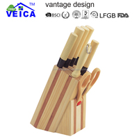 kitchen knife/knife with bamboo handle/knife set with wooden block