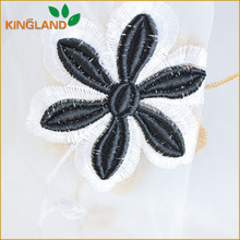 Wholesale organza embroidered fabric for curtain party decoration