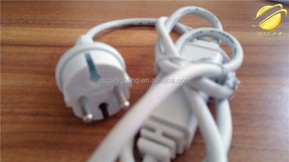 VDE IPAA European power cord /UK plug with DC rectifier male connector/connect rope ball string curtain light