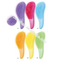 Private label TPEE bristle plastic hair detangling massage brush detangler brush