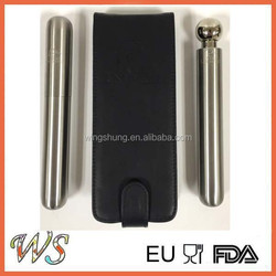 Stainless Steel Cigar Shaped Tube and Flask