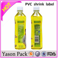 YASON heat shrink sleeve pipe heat shrinkable seal for bottles water pvc heat shrink labels for bottle cap