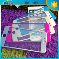 0.2mm 9H Colorful 3D Curved Aluminum / Titanium alloy Tempered Glass screen protector for iPhone 6 / 6 Plus