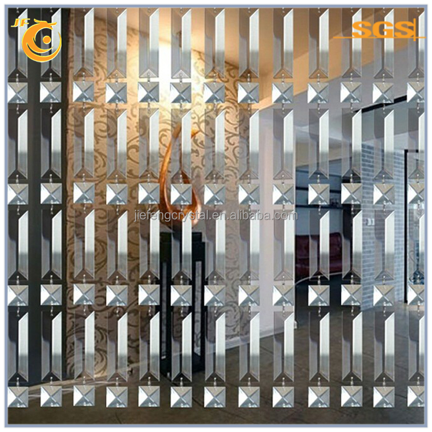 acrylic crystal bead curtain glass rectangle strip for door