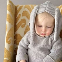 MS68158C hot sale European design fashion baby hooded sweater knitting