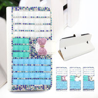 Luxury wallet style diamond crystal bling bling leather case for IPAD MINI2