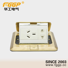 Floor Mounted Recessed Slow / Fast Pop Up Raised Copper / Aluminum Alloy 110v Different Standard Power and Data Socket Outlet