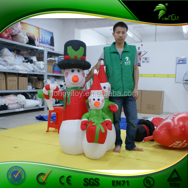 Most Popular LED Lighted Christmas Inflatable Snowman, Christmas Decorative Snowman